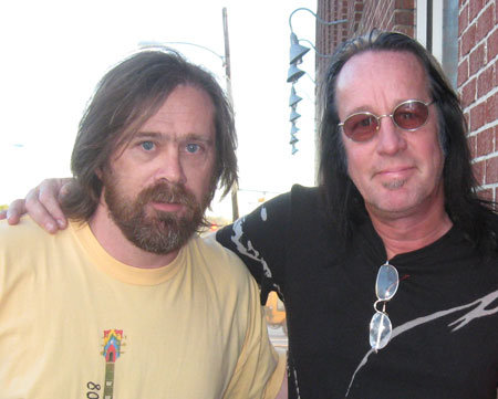 The author with Todd Rundgren in 2008