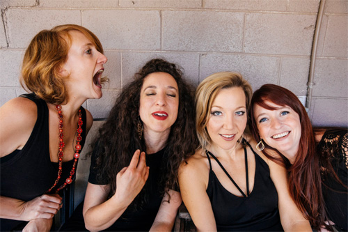 Sweet Claudette. L-R: Amanda Platt, Melissa Hyman, Dulci Ellenberger and Amber Sankaran. Photo by Evoke Emotion Photography