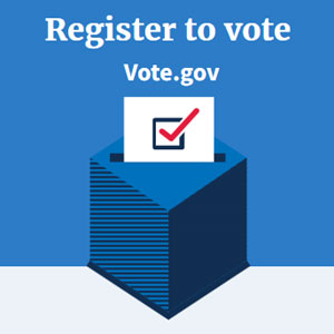 Register to VOTE, then vote like the future of the USA depends on it. Because it does.